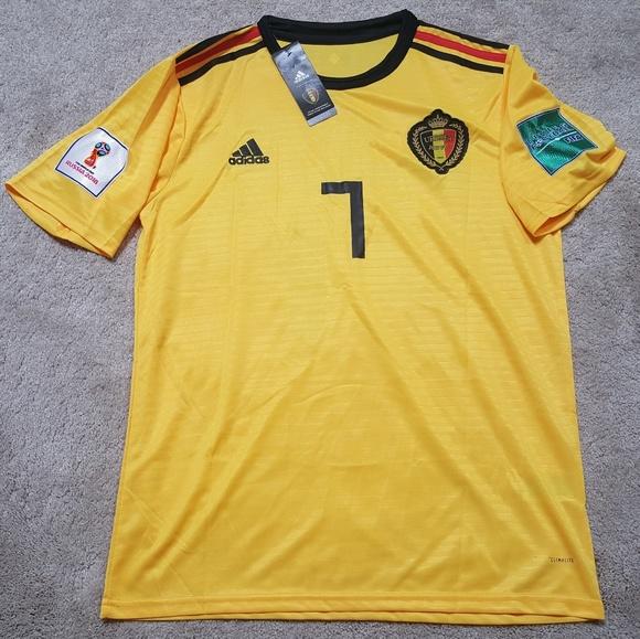 buy popular 8834e 6901a De Bruyne Belgium Jersey World Cup New L